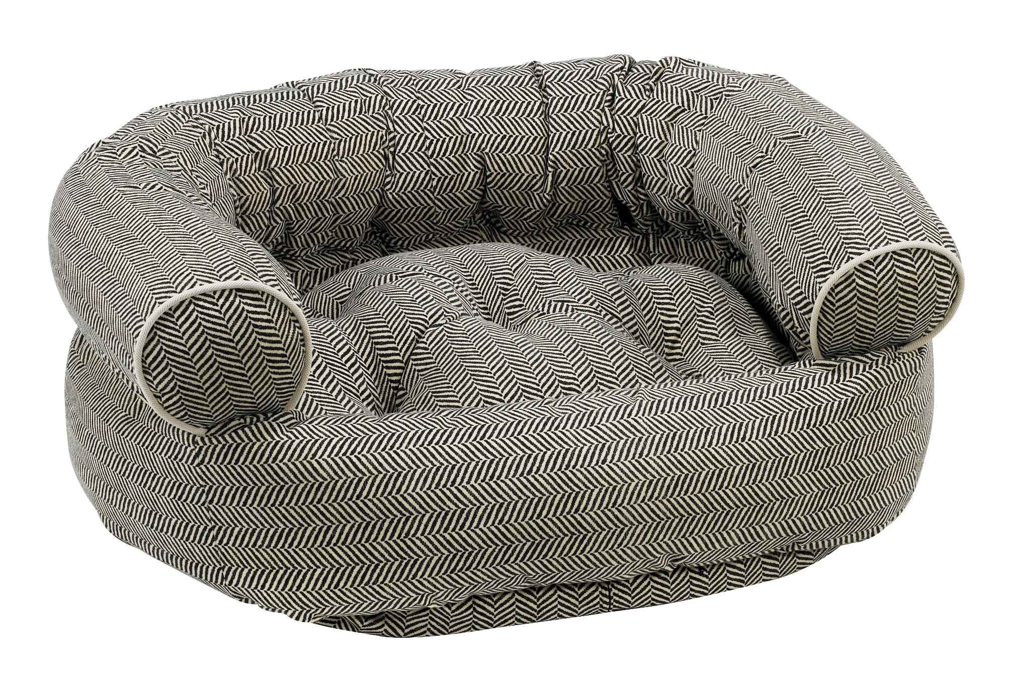 Dog Sofa - Double Donut - Herringbone, MAIN