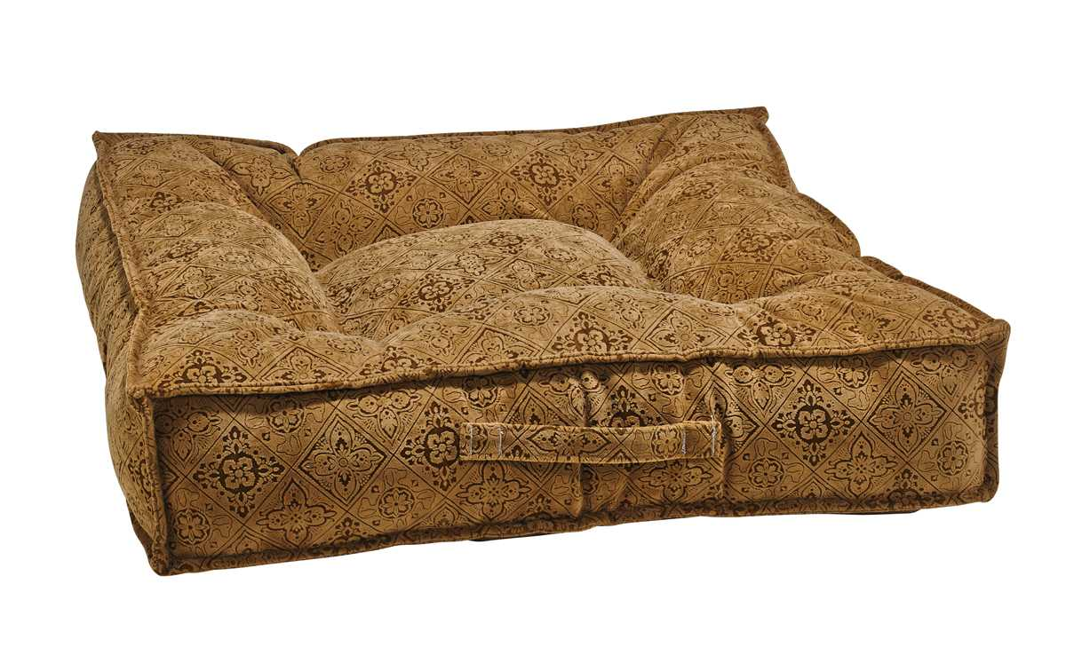 Best Dog Beds For Senior Dogs - Piazza - Pecan Filigree
