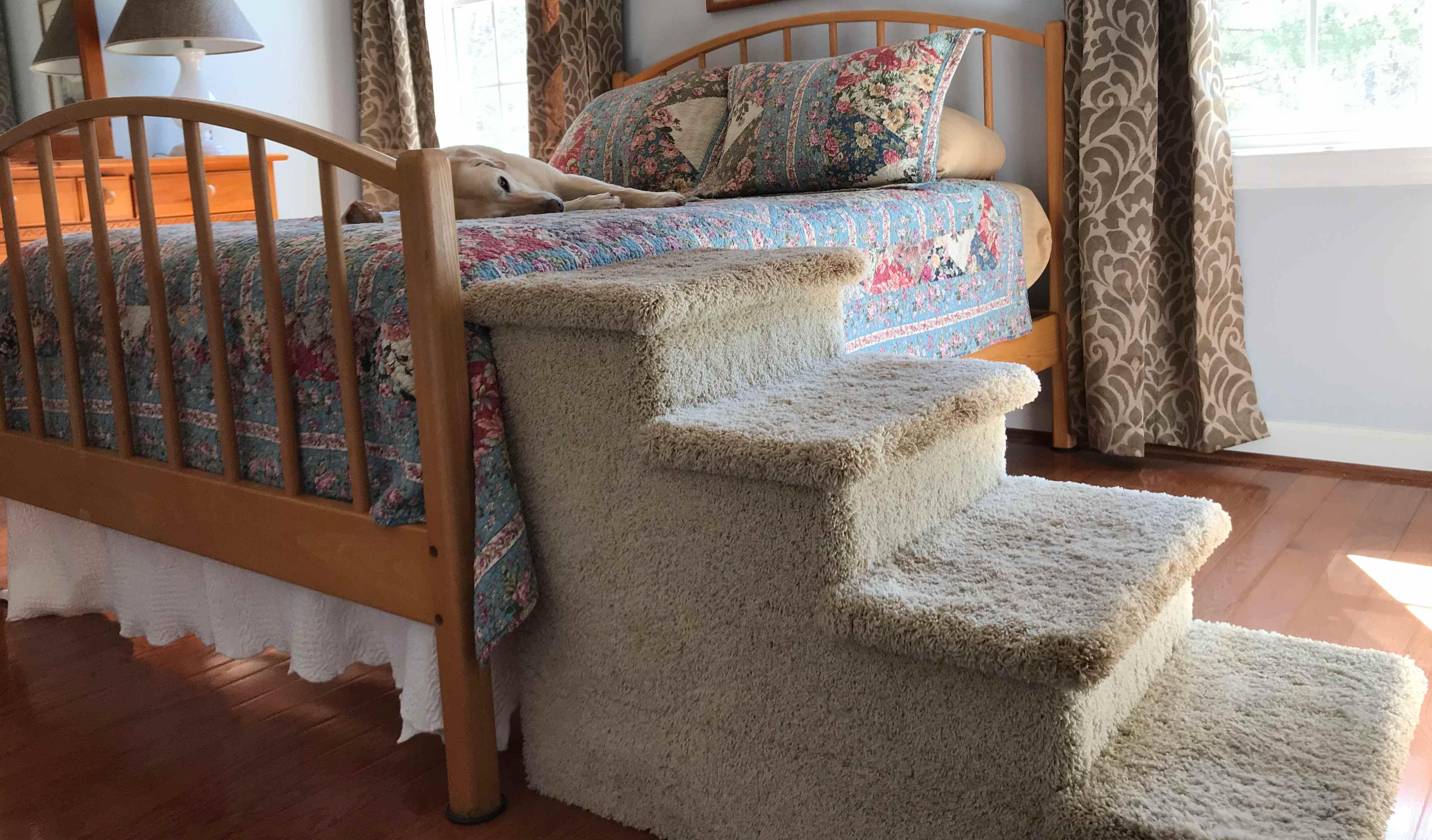 Pet Stairs - Quadruple Pet Step, Speckled Sand