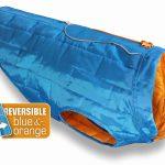 Dog Winter Coat - Kurgo Loft Dog Coat in Blue Reverses to Orange