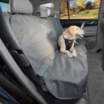 Pet Seat Covers - Kurgo Bench Seat Cover, Heather Pattern, Charcoal