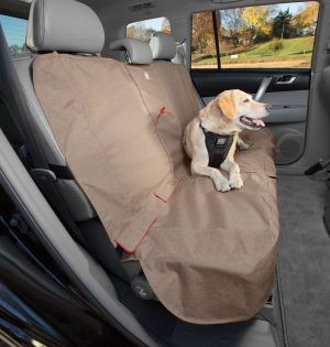 Dog Seat Covers - Kurgo Bench Seat Cover, Heather Pattern, Nutmeg