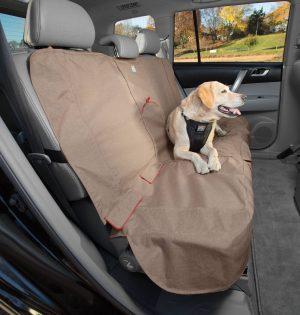 Dog Seat Covers - Kurgo Bench Seat Cover, Heather Pattern, Nutmeg