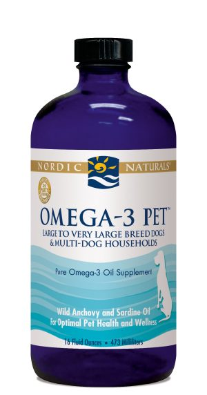 Omega-3 Fish Oil for Dogs - Large to Very Large Breeds & Multi-Dog Households, 16 oz.