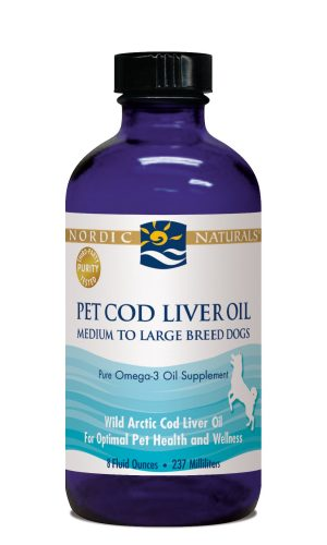 Cod Liver Oil for Dogs 8 oz.