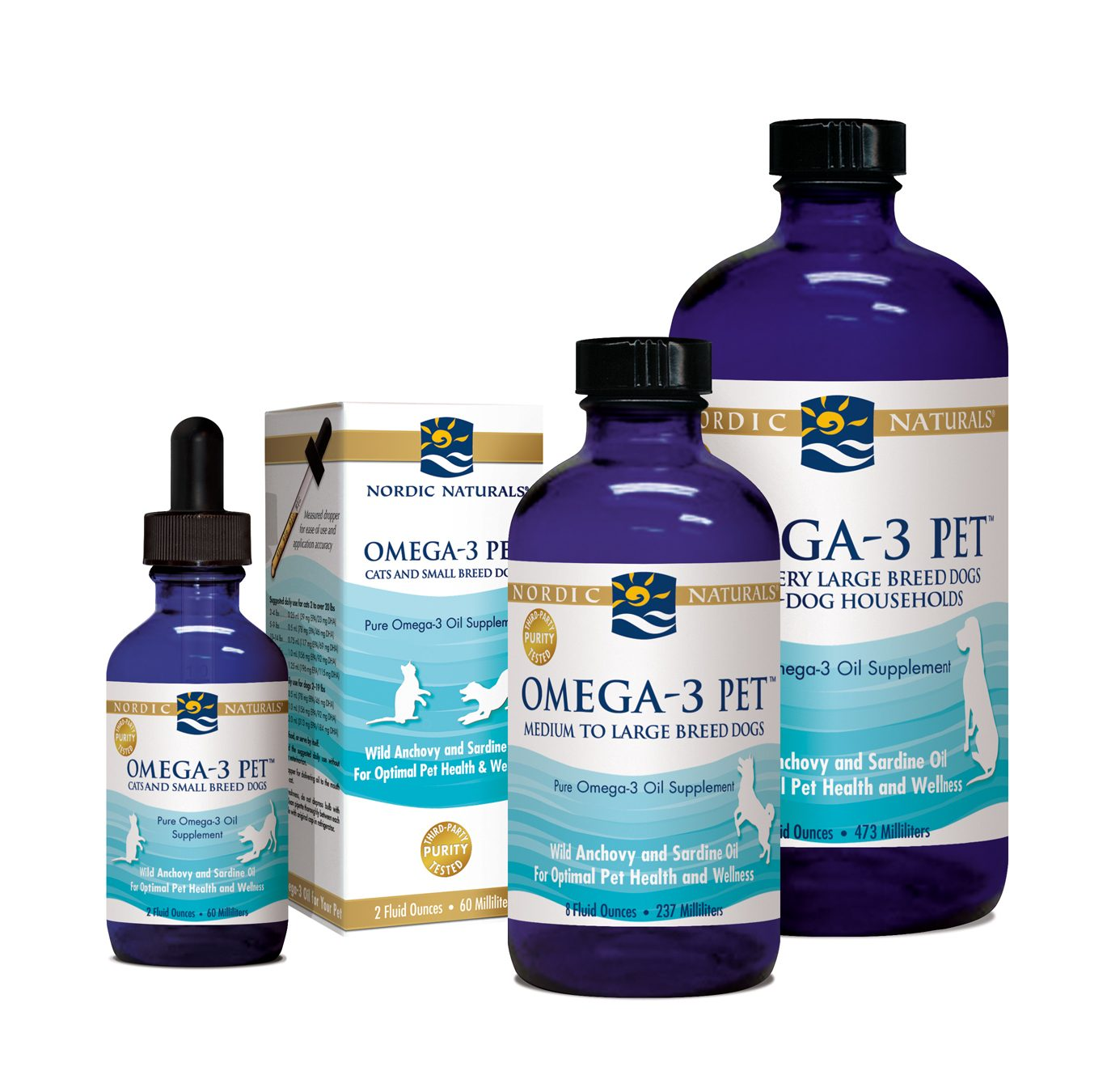 Omega 3 Liquid Fish Oil for Pets Product Group