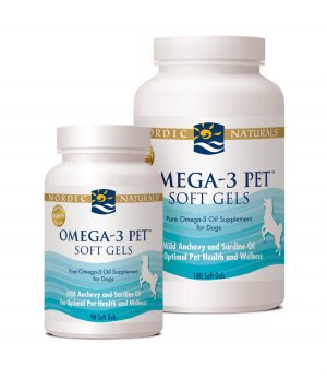 Nordic Naturals Omega-3 Pet Soft Gels Fish Oil, 90 and 180 count sizes