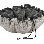 Small Dog or Cat Bed -Buttercup-Aspen (Grey Teddy)