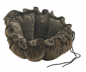 Small Dog or Cat Bed-Buttercup-Chocolate Bones