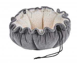 Small Dog or Cat Bed-Buttercup-Pumice (Ivory Sheepskin)