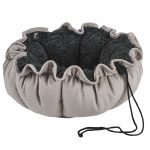 Small Dog or Cat Bed-Buttercup-Sandstone (Grey Sheepskin)