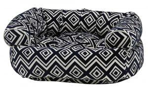 Dog Sofa - Double Donut - Azure