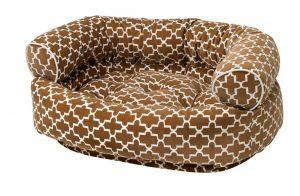 Dog Sofa - Double Donut - Cedar Lattice