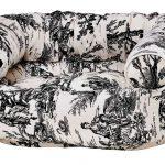 Dog Sofa - Double Donut - Onyx Toile