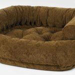 Dog Sofa - Double Donut - Pecan Filigree