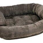 Dog Sofa - Double Donut - Pewter Bones