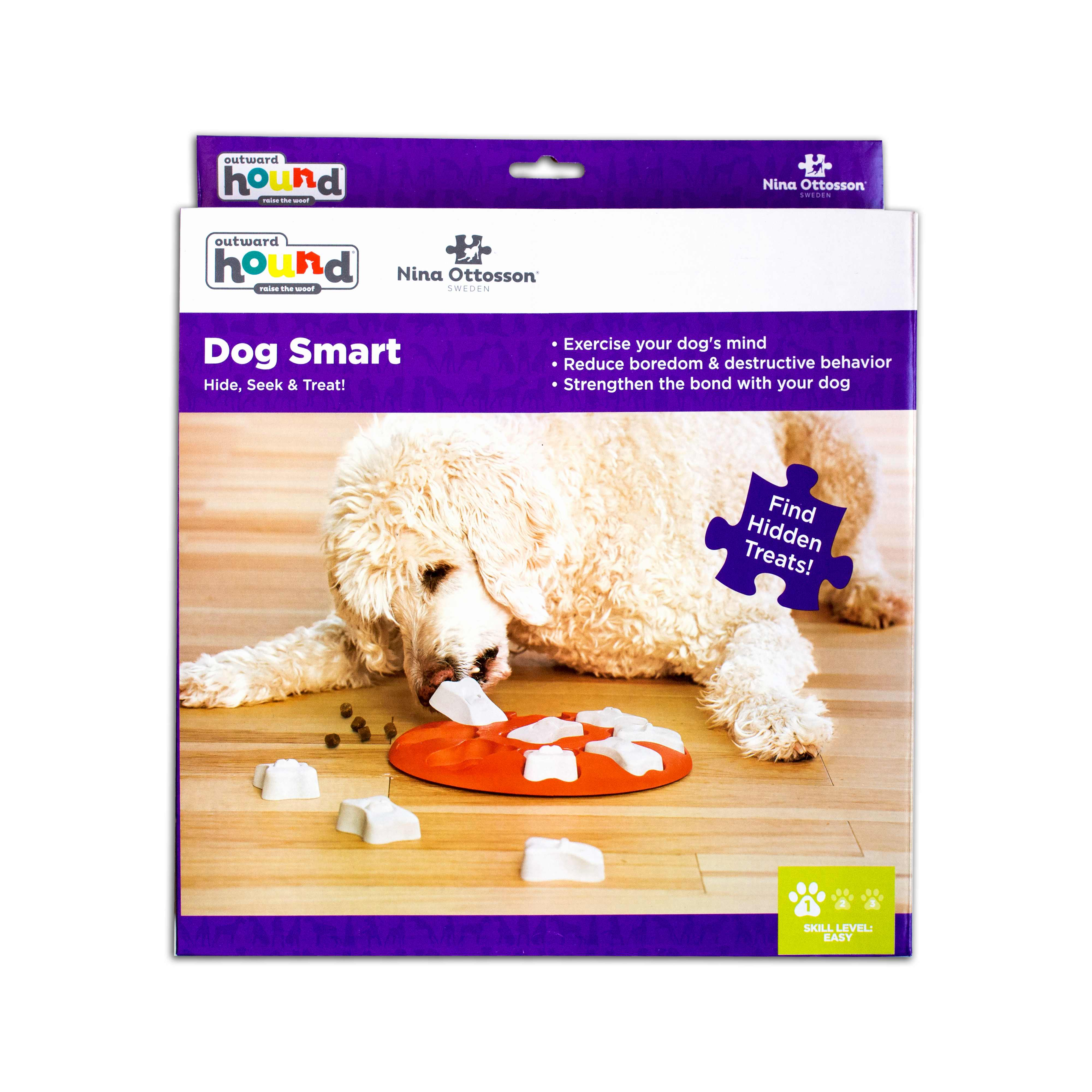 Outward Hound Nina Ottosson Dog Smart, Orange - package