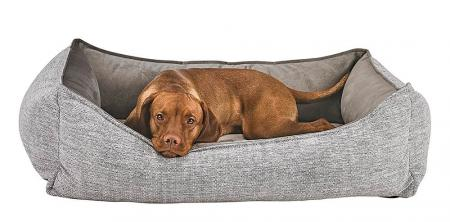 Orthopedic Dog Bed by Bowser's Pet Products, Oslo Ortho Bed, Allumina - Lifestyle Shot