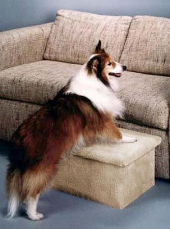 Pet steps for bed or sofa - Single Pet Step - Natural