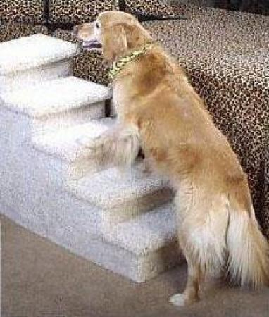Dog Steps for High Beds -5-Step in Speckled Sand