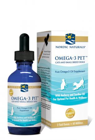 Omega-3 Pet Fish Oil for Dogs and Cats, 2 oz.