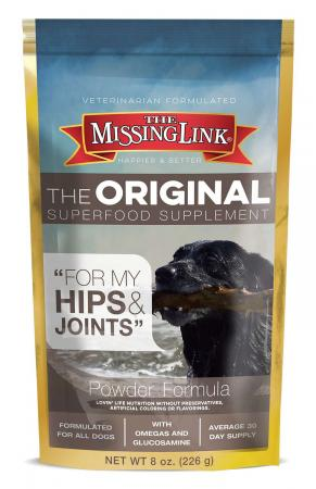 Missing Link Original Hip & Joint Dog Food Supplement - 8 oz. for small dogs