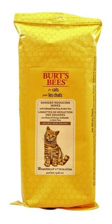 Cat Dander Wipes - Burt's Bees Dander Reducing Wipes for Cats with Colloidal Oat Flour & Aloe Vera, 50 ct.